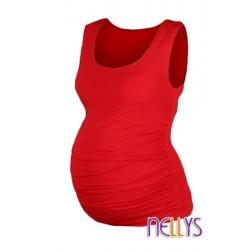 Top, tílko DANA  nejen pro těhotné  - červená