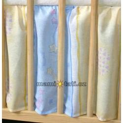 Krásný volánek pod matraci - Medvídek modrý