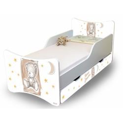 Dětská postel NELLYS Sweet TEDDY s šuplíkem - béžová