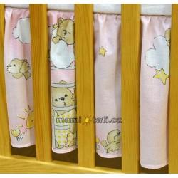 Krásný volánek pod matraci - Žebřík růžový