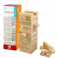 Hra věž jenga přírodní 48 ks