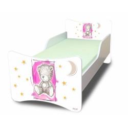 Dětská postel NELLYS Sweet TEDDY - růžový