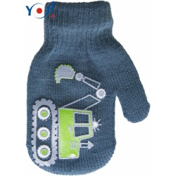 Kojenecké chlapecké akrylové  rukavičky YO - jeans