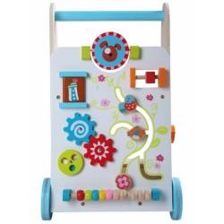 Edukační dřevěné chodítko Eco Toys - bílá