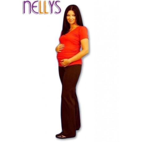 Těhotenské tepláky - hnědé