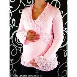 Těhotenský svetřík - Maminka I. - sv. růžová