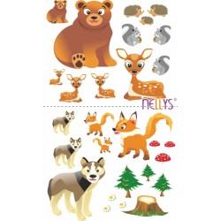 Nástěnná dekorace - Zvířatka z lesa