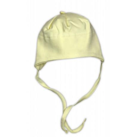 Bavlněná čepička NICOL - žlutá