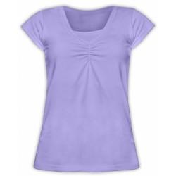 Kojící,těhotenské triko KARIN - šeříkové