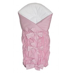 Zavinovačka SAFETY - růžový - jemná kostička