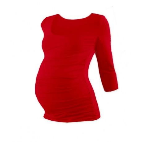 Těhotenské triko 3/4 rukáv JOHANKA - červená