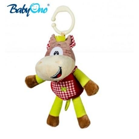 Chrastítko s klipsou a hracím strojkem Baby Ono - KONÍČEK