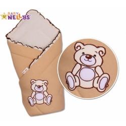 Zavinovačka TEDDY BEAR Baby Nellys - jersey - hnědá