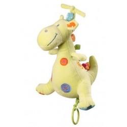 Edukační plyšová hračka Baby Ono s hracím strojkem - Dino - zelený