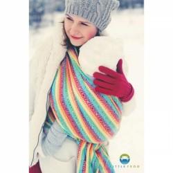 Little FROG Žakarový tkaný šátek na nošení dětí - Rainbow Cube