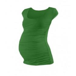 Těhotenské triko mini rukáv JOHANKA - tmavě zelená