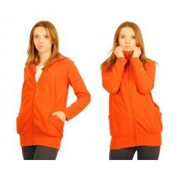 Těhotenská mikina  - cihlová/oranž
