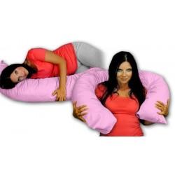 Kojící polštář - relaxační poduška RELAX DELUXE růžová