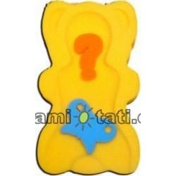 Matračka - houba ke koupání miminek MAXI - Žlutá, béžová