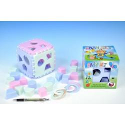 Baby set vkládací kostka Mimi+kousací kroužky v krabičce 6m+
