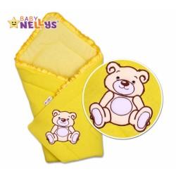 Zavinovačka TEDDY BEAR Baby Nellys - jersey - krémově/žlutá
