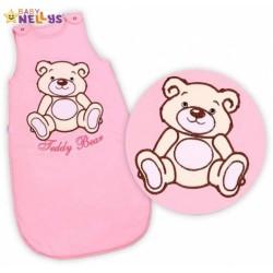 Spací vak TEDDY BEAR Baby Nellys - sv. růžový vel. 2