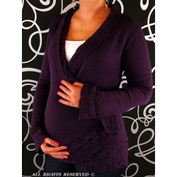 Těhotenský svetřík - Maminka I. - fialová