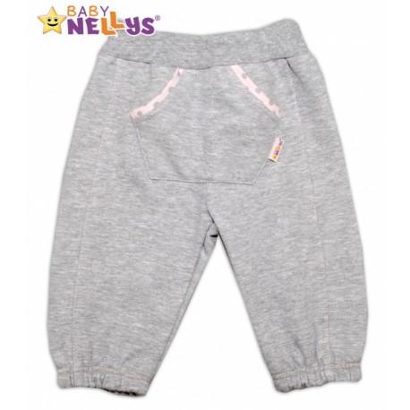 Tepláčky Baby Nellys® - PUNTÍKY - sv. šedé