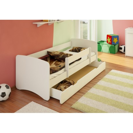 Dětská postel se šuplíkem Filip - bílý 160 x 70