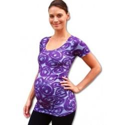 Těhotenské triko krátký rukáv JOHANKA vzor 01