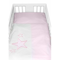 Baby Nellys Povlečení do postýlky Love Dreams -  - růžové