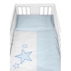 Baby Nellys Povlečení do postýlky Love Dreams -  - modré