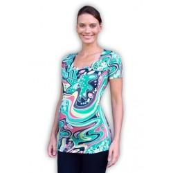 Těhotenské triko krátký rukáv JOHANKA vzor 06