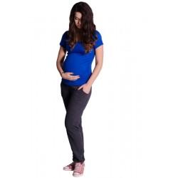Těhotenské trubkové tepláky - grafit (tm. šedé)