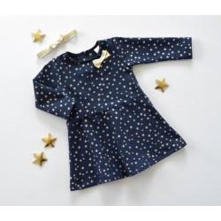 K-Baby Kojenecké šatičky Hvězdička - granát/zlatá, vel. 68