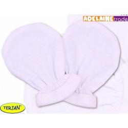 Rukavičky bavlna Terjan - bílé, vel. 2