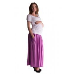 Maxi dlouhá sukně MAXINA  - šeříková