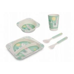 Canpol Babies Bambusová eko sada dětského nádobí 5 ks - Lama