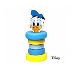 Dřevěná chrastítko Disney, Kačer Donald, 5 x 5 x 12 cm