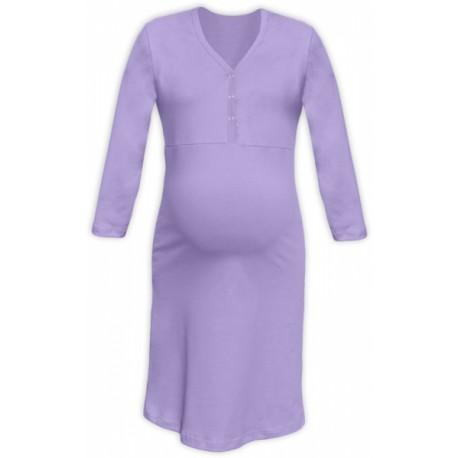 Těhotenská, kojící noční košile PAVLA 3/4 - lila