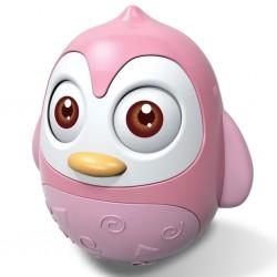 Kývací hračka Bayo tučňák pink, Růžová