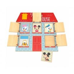 Zábavná dřevěná hra Disney - trénujeme pamět s Mickeym, 29 x 30 cm