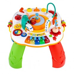 Mluvící a hrající interaktivní stoleček New Baby s jezdícím vláčkem CZ/SK, Dle obrázku