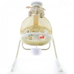 Dětská elektrická houpačka a lehátko - smetanové