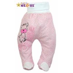Polodupačky Baby Nellys ® Giraffe - růžové