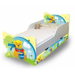Dětská postel a šuplík/y Medvídek s medem