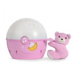 Chicco Projektor s melodií Next 2 Stars - Medvídek růžový