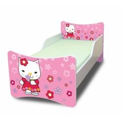 Dětská postel Kočička s kytičkou