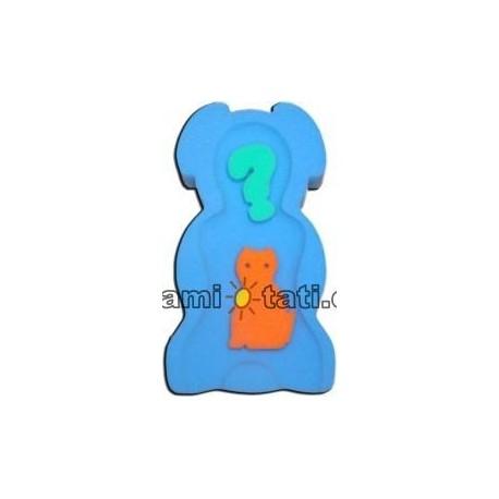 Matračka - houba ke koupání miminek MAXI - Modrá