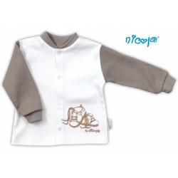 Bavlněná košilka NICOL STEP BY STEP - BOTIČKY v bílo/hnědé